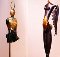 Paul Wunderlich, a German surrealist painter and sculptor, created Minotaur, a 6-foot bronze. Wunderlich's Nike provides an eye-catching companion for Minotaur at The Hart Gallery.
