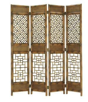 The four-panel Miles Screen has a modern edge that divides and conquers; $1,495. Mitchell Gold + Bob Williams, 441 S. Palm Canyon Dr., Palm Springs. 778-1888