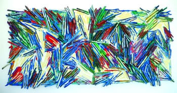 Sticky Wicket  (1989)Modeling paste and sticks on plywood Courtesy Imago Galleries