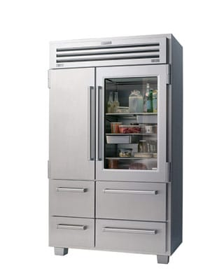 The new All Stainless Sub-Zero PRO 48 refrigerator.