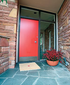 Paint your front door red — or a related hue — to bring good luck.