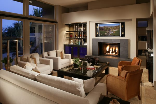 Arrange a room's focal point to draw the eye to the most positive feature. If there's a killer view or a fabulous fireplace, maximize the experience for every seating position.