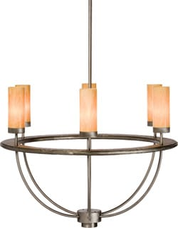 This dramatic Hammerton chandelier takes the contemporary look to sleek new heights; $8,530. The Lighting Showroom, 78-982 Hwy. 111, La Quinta, 760-396-9444.