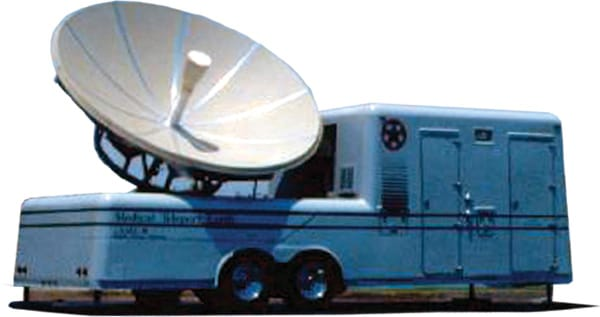 Acquisition of transportable satellite uplink