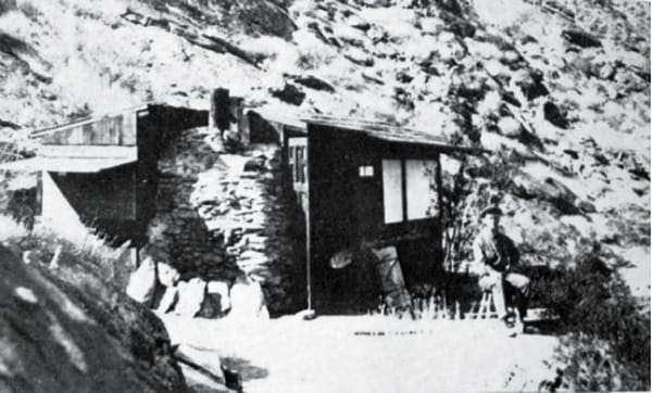 Edmund C. Jaeger's cabin, a few stone's throws to the north of Eytel's cabin.