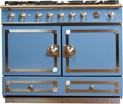 Rekindle the romance of cooking at home with La Cornue CornuFé Stove. This French beauty gleams with five gas burners, two electric convection ovens with side-swing doors, and fittings in satin chrome or satin chrome with polished brass accents. For the body, choose stainless steel or a classic porcelain enamel in black, Provence blue, or ivory. They've even shrunk the customary long wait; $8,000 plus $1,300 for white-glove delivery. Williams-Sonoma, The Gardens on El Paseo, 73-505 El Paseo, Palm Desert, (760) 862-1290, www.williams-sonoma.com