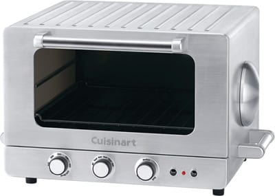 In stainless steel, the countertop Cuisinart Brick Oven uses two brick inserts to give breads and pizzas a super crisp crust. The fully functional toaster oven/broiler can bake, broil, and toast, reaching temps of almost 500 degrees. And with nearly a cubic foot of interior, it accommodates a 12-inch pizza or pie or 5-pound chicken; $249. Macy's, 72-780 Highway 111, Palm Desert, (760) 346-9300, www.macys.com