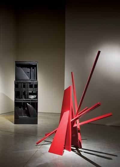 Sculptures by Louise Nevelson and John Henry punctuate the world-class quality of the art exhibited at Buschlen Mowatt Galleries.