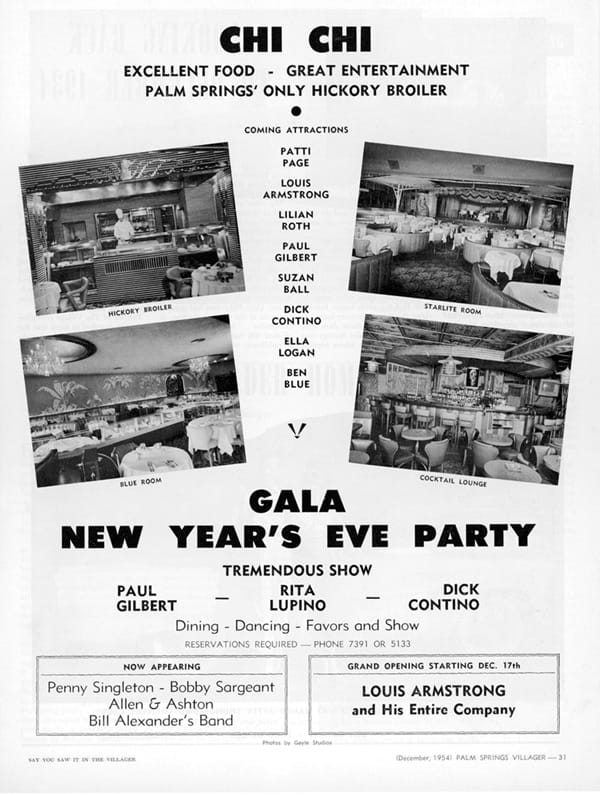 Advertisement in The Villager magazine, December 1954.