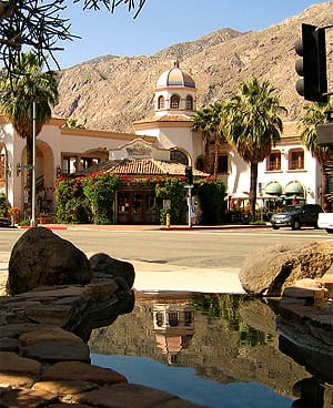 Plaza de las Flores at Tahquitz Canyon Way and Indian Canyon Drive is one of John Wessman's personal favorite projects.
