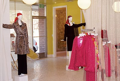 The Trina Turk boutique on Palm Canyon Drive reflects the retro vibe of Palm Springs.