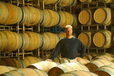 Winemaker Jeff Stewart in Buena Vista's barrel room