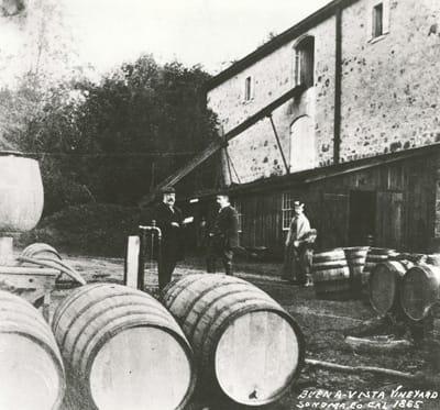 Buena Vista winery in 1865