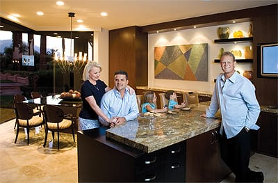 Lisa and Antun Barbato worked with designer Jeffrey Jones to create a kitchen with the space and amenities to make meals and spend time with twins Jillian and Chandler, who like to play video games on the plasma television.