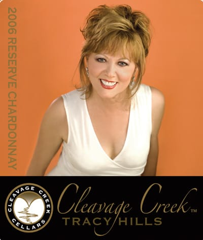 Local TV host and cancer survivor Pattie Daly Caruso graces the label of Cleavage Creek's 2006 reserve chardonnay. Ten percent of the wine's purchase price goes toward breast cancer research. O'Brien Family Vineyard's Seduction wine benefits Equality California.