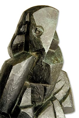 """The groundbreaking Cubist """"Draped Woman"""" (1919) one of three sculptures by Jacques Lipchitz selected for the exhibition."""