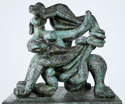 """""""Agar in the Desert"""" (1957) one of three sculptures by Jacques Lipchitz selected for the exhibition."""