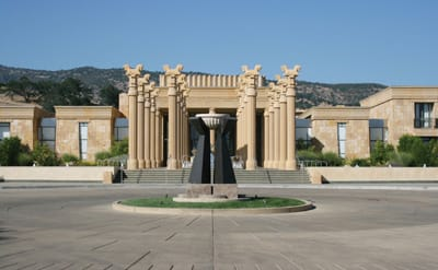 The architecture of Darioush Winery pays tribute to Persepolis, the capital of Persia circa 512 BC, at the time of King Darius I.