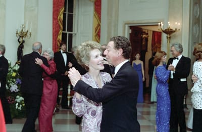 Nancy Reagan — A First Lady's Style, an exhibition at the Reagan Library through November 2008, pays tribute to the designers, including James Galanos, who helped define her style.