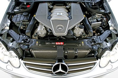 The V8 engine reaches 187 mph and takes corners faster than a car this size should.