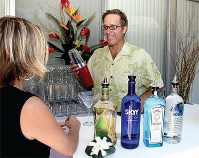 "A good bartender is key to a great celebration. Few can whip up tropical concoctions and classic cocktails like third-generation bartender Christian Larson. ""Once I talk with the couple about their favorite drinks, I like to come up with a signature cocktail just for them."" A drink that hints at where the newlyweds will be honey-mooning is always a fun touch. (760) 406-1822"