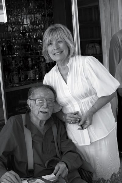 Shulman with Dorothy Meyerman, who, along with her husband, Harold, lives in the William Burgess House.