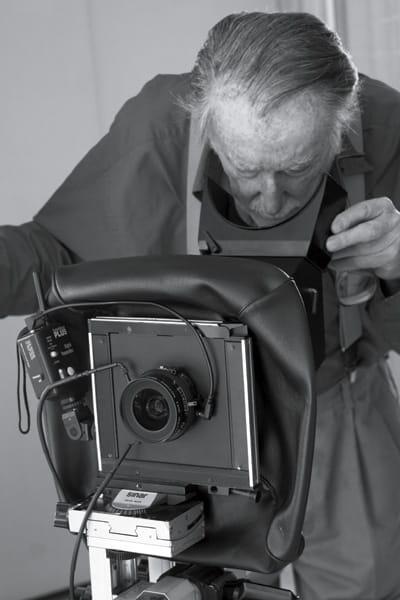Shulman checks the cropping of an image.