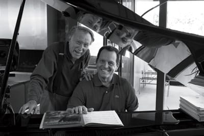 Shulman with David Lee, current owner of the Dinah Shore House