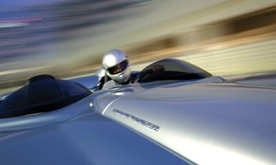 The C16 Speedster accelerates from 0 to 60 mph in 3.2 seconds, with a 210 mph maximum velocity.