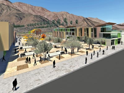 In a hypothetical exercise, Indio architect Philip Smith re-imagined Palm Springs' historic O'Donnell Golf Course as a public space featuring a new library, a botanical garden, a restaurant, and more.