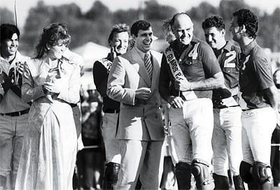 Sarah Ferguson, Prince Andrew, and Maj. Ronald Ferguson.