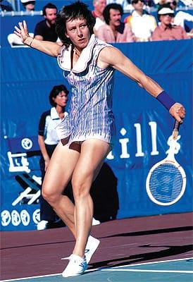 Martina Navratilova.