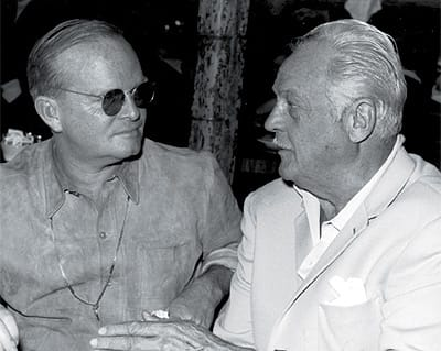 Truman Capote and Charles Farrell.