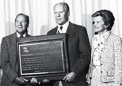 Leonard Firestone with Gerald and Betty Ford.