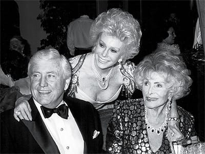 Merv Griffin and Eva and Jolie Gabor.