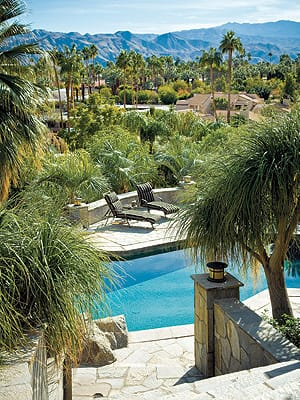 The 6.5-acre property looks out across the western edge of downtown Palm Springs.