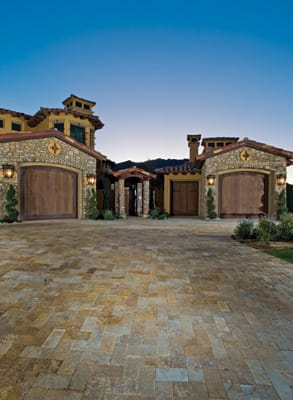 A Grand Entrance - The walkway leading to this custom home at The Hideaway in La Quinta paves the way for a stately first impression that's perfectly aligned with the style of the house. Farley Interlocking Pavers, Palm Desert, 773-3960, www.farleypavers.com.