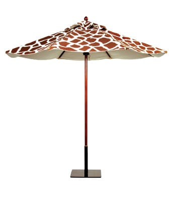 Rather Shady - Leaders in style under the sun, Santa Barbara Designs has unveiled a bright collection of distinguished, resort-worthy umbrellas inspired by those found in European markets. Among the favorites in the array of stripes, patterns, and solids are Giraffe. (Prices vary.) Egg & Dart, Ltd., 42829 Cook St., Palm Desert, 340-3900.