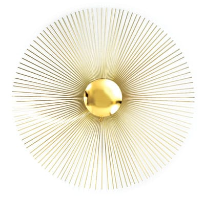 It's no wonder that design giant Jonathan Adler has been obsessed with the ultra groovy wall sculptures of C. Jeré for years. Jeré's gorgeous metal sunbursts, explosions of raindrops, and mirrors suspended by exquisitely crafted brass petals are the stuff of mod dreams. Now, in an exclusive partnership, Adler and the C. Jeré studio have reissued Jeré's most iconic midcentury designs, promising to add just the right je ne sais quoi to any wall. Sunburst sculpture, signed and dated, $1,100. www.jonathanadler.com.