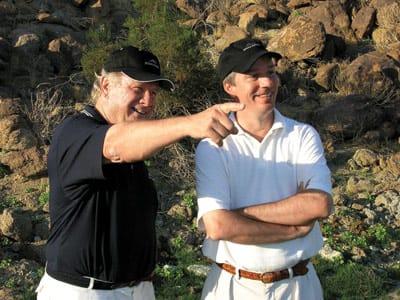 Bob Weisgerber and Al Geiberger at Stone Eagle Golf Club