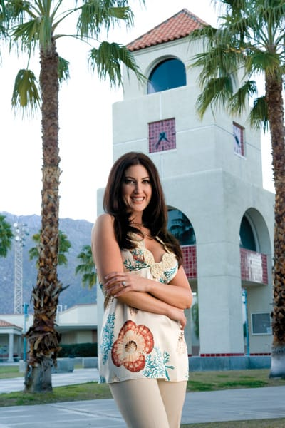 """Stefanie Schaeffer graduated from Palm Springs High School in 1992. Though she now lives in Oak Park, she visits the Coachella Valley regularly. """"When I get into the desert, I start to think I'm home,"""" she says."""