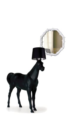 How better to show your appreciation of the absurd than with a tongue-in-cheek, 7-foot-tall horse lamp? This black beauty is sure to trigger endless speculation over whether it is a life-size version of the toy horses of your youth or a full-scale depiction of a drunken day in the barnyard. Moooi Horse Lamp, $7,400. Interior Illusions, 830 N. Palm Canyon Drive, Palm Springs. 325-0300.