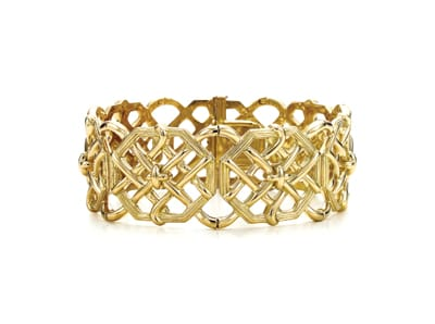 Wear the woods on your wrist with the Bamboo Weave Bracelet by Jean Schlumberger at Tiffany & Co. Inspired by the winding weave of a garden trellis, this bracelet makes even this common cultivar chic. 18K gold, 6.5 inches long. $12,500, Tiffany & Co., 73585 El Paseo, Palm Desert. 341-3444.