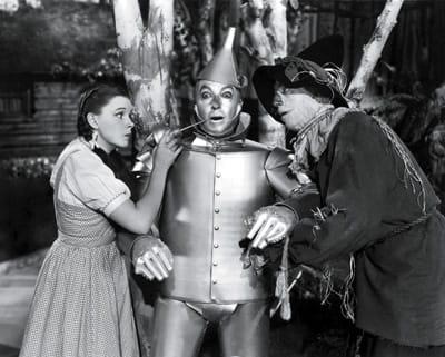 Judy Garland, Jack Haley, and Ray Bolger