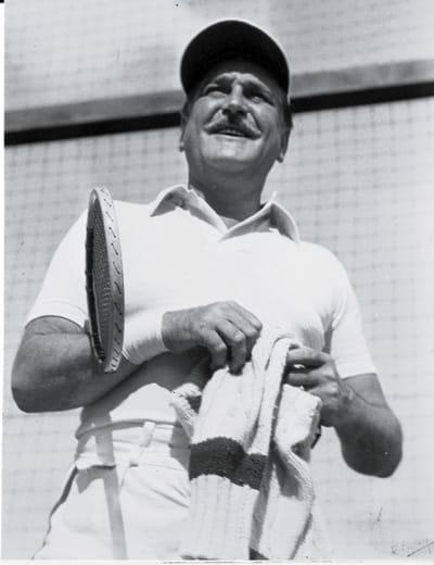 Frank Morgan at the Racquet Club.
