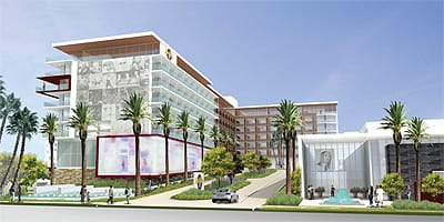 """Scheduled to open in 2011, Hard Rock Hotel Palm Springs will add an """"urban resort"""" experience to the transformation of the city's downtown."""