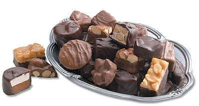 Just a small selection of the expanse of chocolates you can get at See's Candies, Palm Desert and Palm Springs.