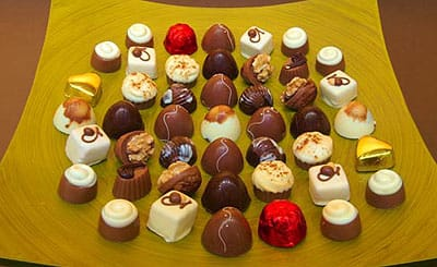 A selection of the artisinal delicacies offered at Café Chocolat of Palm Springs.
