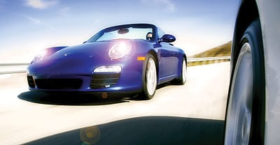 LED lights punctuate the subtle profile difference on the nose of the new Porsche 911.