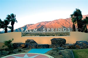 New Palm Springs Entry Sign.